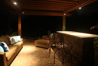 Image: Tier One Landscape outdoor room lighting.