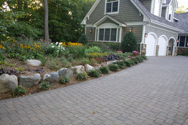 Image: Tier One Landscape foundation plantings.