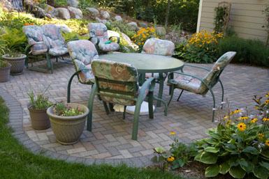 Image: Tier One Landscape patio.