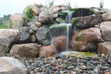Image: Tier One Landscape pond-less waterfall.