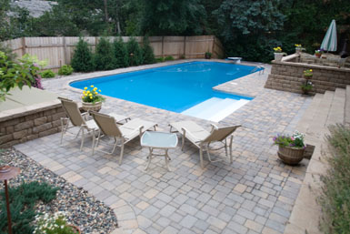 Great Image: Tier One Landscape Pool Apron.