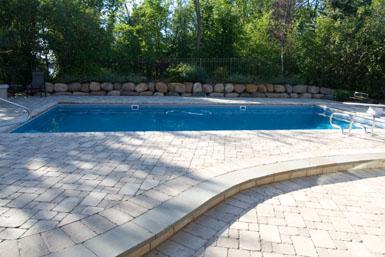 Image: Tier One Landscape pool apron.