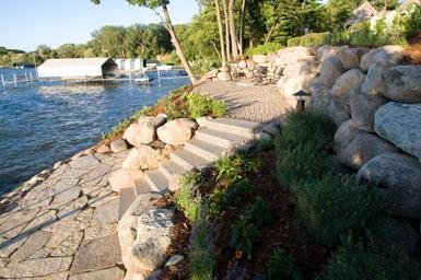 Image: Tier One Landscape shoreline enhancement.