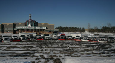 Image: part of the Tier One Landscape snow plowing fleet.