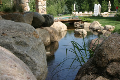 Image: Tier One Landscape water feature.