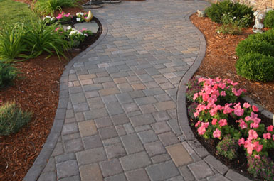 Image: Tier One Landscape walkway.