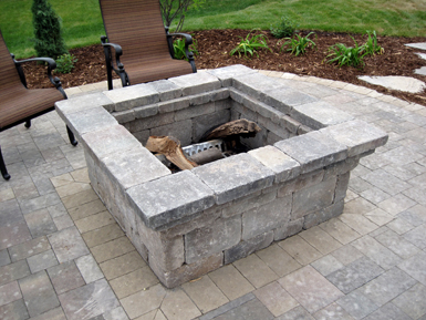 Combination outdoor firepit and patio table
