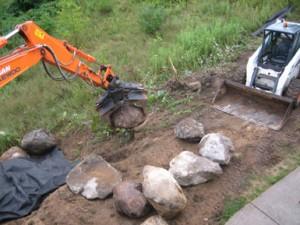 Building Reichl's pond